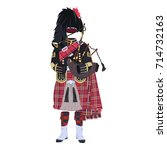 vector illustration of scottish ... | Shutterstock .eps vector #714732163