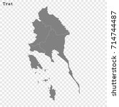 high quality map of trat is a... | Shutterstock .eps vector #714744487