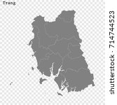 high quality map of trang is a... | Shutterstock .eps vector #714744523