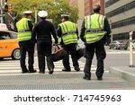new york city  usa   october... | Shutterstock . vector #714745963