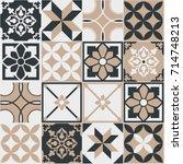 seamless pattern of tiles.... | Shutterstock .eps vector #714748213