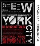 newyork typography graphic...   Shutterstock .eps vector #714759223