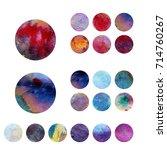 colorful circles. web design.... | Shutterstock . vector #714760267