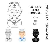 sailor cartoon icon....