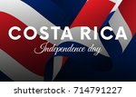 costa rica independence day.... | Shutterstock .eps vector #714791227