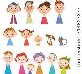 family finger doll | Shutterstock .eps vector #714827377