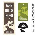 set of farmhouse vector logos... | Shutterstock .eps vector #714830887