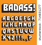 bad ass custom retro vector... | Shutterstock .eps vector #714831277