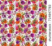 violet orange purple watercolor ...   Shutterstock . vector #714847783