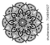 mandalas for coloring book.... | Shutterstock .eps vector #714854527
