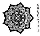 mandalas for coloring book.... | Shutterstock .eps vector #714854863