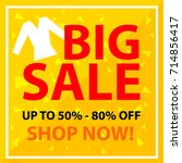 big sale banner. sale and... | Shutterstock .eps vector #714856417