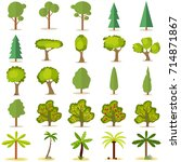 trees  a large set of trees.... | Shutterstock .eps vector #714871867