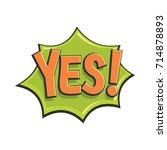 comic speech bubble with... | Shutterstock .eps vector #714878893