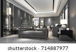 3d rendering luxury and modern... | Shutterstock . vector #714887977