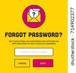 forgot password. password reset ... | Shutterstock .eps vector #714902377