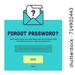 forgot password. password reset ... | Shutterstock .eps vector #714902443