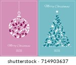 new year card with shoes and... | Shutterstock .eps vector #714903637