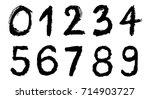 set of grunge numbers.vector... | Shutterstock .eps vector #714903727