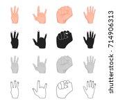 different gestures with hands ...
