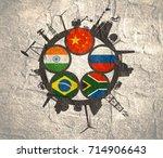 brics   association of five... | Shutterstock . vector #714906643