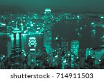abstract blur seaside cityscape ... | Shutterstock . vector #714911503