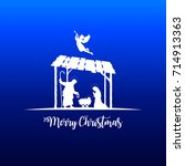 high detail vector nativity... | Shutterstock .eps vector #714913363