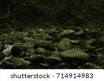water stream flowing between...