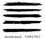 grunge paint stripe . vector... | Shutterstock .eps vector #714917917