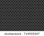 seamless honeycomb background... | Shutterstock .eps vector #714935347