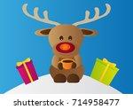 Comical Christmas Reindeer Wit...