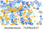 floral pattern for brochure ... | Shutterstock .eps vector #714961417