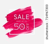 sale save up to 50  off sign... | Shutterstock .eps vector #714967303