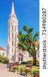 st. matthias church in budapest.... | Shutterstock . vector #714980287