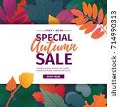 template design discount banner ... | Shutterstock .eps vector #714990313