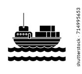 cargo ship business icon | Shutterstock .eps vector #714995653