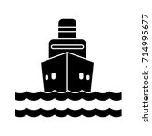 cargo ship icon | Shutterstock .eps vector #714995677