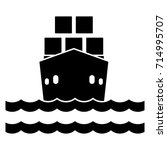 cargo ship flat icon | Shutterstock .eps vector #714995707