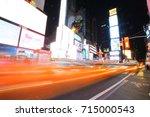 new york oct 5  busy car queue... | Shutterstock . vector #715000543