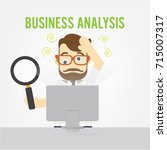 business man confused to...   Shutterstock .eps vector #715007317