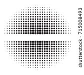 halftone vector.black dots on... | Shutterstock .eps vector #715008493