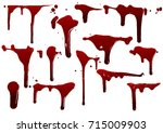 collection various blood or... | Shutterstock .eps vector #715009903