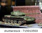 model  soviet tank    Shutterstock . vector #715013503