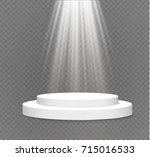 podium on a transparent... | Shutterstock .eps vector #715016533