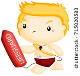lifeguard  | Shutterstock .eps vector #715020583