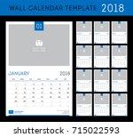 wall calendar planner template... | Shutterstock .eps vector #715022593