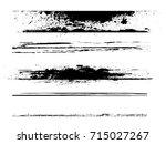 grunge paint stripe . vector... | Shutterstock .eps vector #715027267