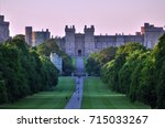 windsor castle and the long... | Shutterstock . vector #715033267