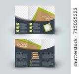 tri fold brochure design.... | Shutterstock .eps vector #715035223