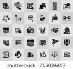 e commerce and shopping icons | Shutterstock .eps vector #715036657